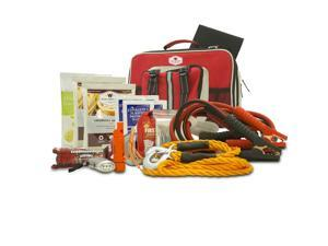 Wise Company All-in-One Auto Kit with Jumper Cables, 13-Foot Tow Rope, Rechargeable Hand Crank Flashlight, 5-in-1 Surviv