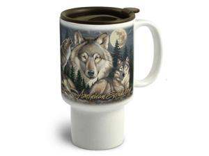 American Expedition Stoneware Travel Mug Gray Wolf CTMG 306