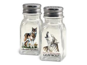 American Expedition Gray Wolf Salt and Pepper Shakers SALT-106