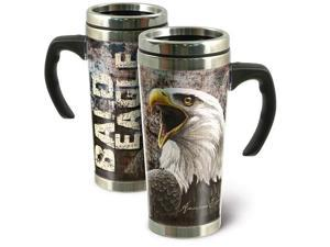 American Expedition Bald Eagle 24 oz. Steel Travel Mug SG24-103