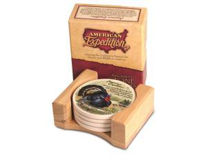 American Expedition Set of 4 Stone Coasters - Turkey