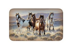 River's Edge Run Horses Memory Foam Mat 31.5in x 20in 1858