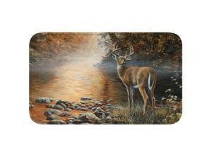 River's Edge Deer Scene Memory Foam Mat 31in x 20in 1853