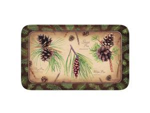 River's Edge Pinecones Memory Foam Mat 31.5in x 20in 1849