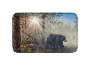 River's Edge Bear Scene Memory Foam Mat 31.5in x 20in 1856