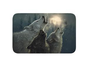 River's Edge Wolves Memory Foam Mat 31.5in x20in 1845