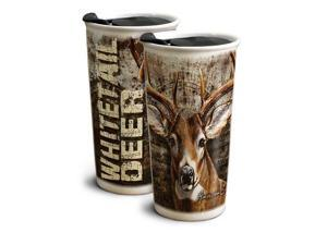 American Expedition Whitetail Deer 12 oz. Ceramic Travel Mug GCTM-102