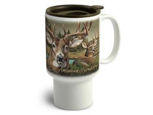 American Expedition Stoneware Travel Mug Whitetail Deer CTMG 302