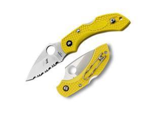 Spyderco Dragonfly2 Yellow Handle Spyderedge Knife C28SYL2