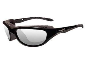 Wiley X Airrage Sunglasses Clear/Gloss Black 693