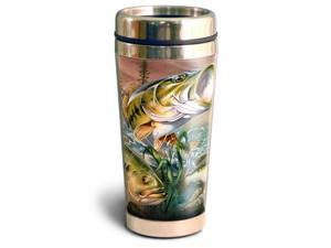 American Expedition 16oz Steel Travel Mug Bass Collage STMG 311