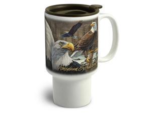 American Expedition Stoneware Travel Mug Bald Eagle CTMG 303