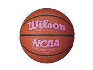 Wilson NCAA Intermediate Size Game Basketball Pink Logo WTB0701XP