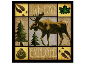 American Expedition Square Coasters Lodge Series Moose CTSQ-605
