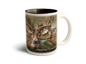 American Expedition Lg Coffee Mug-Whitetail Deer CMUG-302
