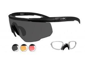 Wiley X Sabre Advanced Sunglasses Smoke Grey/Matte Black Rx Insert 309RX