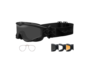 Wiley X Spear Goggle Matte Black Smoke Grey / Clear / Light