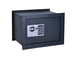 11x15x10 inch Electronic Digital Deep Wall Safe Grey