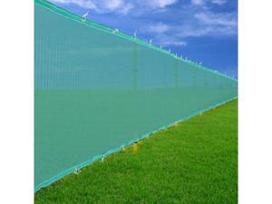 Green 6'x 50' Privacy Screen Fence Construction Residential