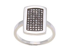 Sterling Silver 1/2ct TDW Micro Pave Black Diamond Ring (G-H, I1-I2)