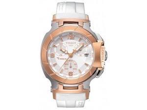 Tissot T-Race Gold-Tone Rubber Ladies Watch T0482172701700