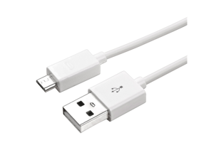 eForCity Universal Micro USB 2- in-1 Cable Compatible with HTC One M7, 3FT White