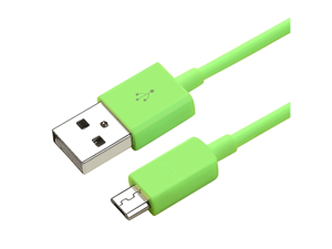 eForCity Universal Micro USB 2- in-1 Cable Compatible with HTC One M7, 3FT Green