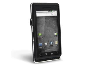 Clip-on Rubber Coated Case compatible with Motorola A855 Droid, Black