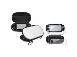 eForCity Full Body Reusable Screen Protector + Silver Eva Case Bundle Compatible With Sony Playstation Vita