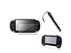 eForCity Black Touch Screen Stylus + Black Hand Grip + Reusable Screen Protector Compatible With Sony Playstation Vita
