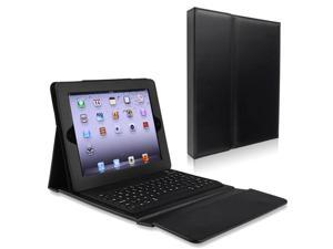 eForCity Leather Case Stand with Bluetooth Keyboard Compatible With Apple® iPad 2 / iPad 3rd generation / iPad 4