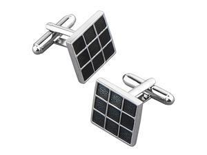 eForCity Cufflink , Black Grid Square