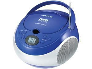 Naxa Npb252Bl Portable Cd/Mp3 Player With Am/Fm Stereo ,Blue