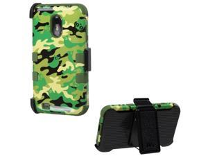 MYBAT Green Woodland Camo/Army Green TUFF Hybrid Case (w/ Holster) for Samsung R760 (Galaxy S2 SII), Galaxy S2 SII 4G, D710 (Epic 4G Touch)