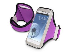 eForCity Armband Sportband Jogging Gym for Apple iPhone 5 / 5S / 5C / HTC One M7, Purple
