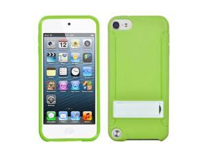 Apple iPod Touch 5th Gen/6th Gen Case, eForCity Stand PC/TPU Rubber Case Cover Compatible With Apple iPod Touch 5th Gen/6th Gen, Green/White