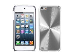 Apple iPod Touch 5th Gen/6th Gen Case, eForCity Cosmo Metal Aluminum Case Cover Compatible With Apple iPod Touch 5th Gen/6th Gen, Silver/Clear