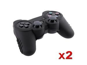 Black Soft Silicone Skin Case (2 Pack) for Sony PS3 Controller