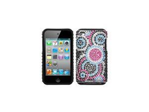 MYBAT Bubble Diamante Fusion Protector Faceplate Cover For Apple iPod touch(4th generation)