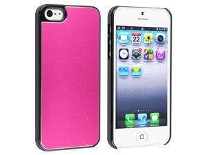 Apple iPhone 5/5S Case, eForCity Chrome Hard Snap-in Case Cover for Apple iPhone 5/5S, Hot Pink