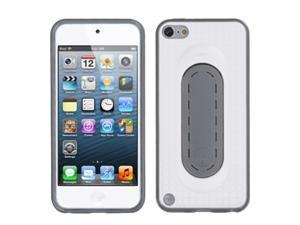Apple iPod Touch 5th Gen/6th Gen Case, eForCity Checker Stand TPU Rubber Candy Skin Case Cover Compatible With Apple iPod Touch 5th Gen/6th Gen, White/Gray