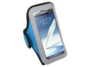 MYBAT Vertical Pouch Universal Baby Blue Sport Armband (263) (NO Package) compatible with Samsung© I717 (Galaxy Note), T879 (Galaxy Note), Galaxy Note II (T889/I605/N7100)