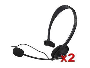 eForCity 2 Black Live Headset + Mic For XBOX 360 WIRELESS CONTROLLER
