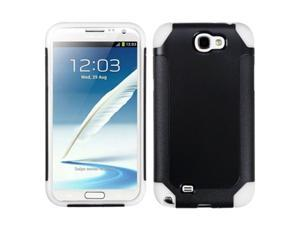 MYBAT Black / White Frosted Fusion Protector Cover compatible with Samsung Galaxy Note II