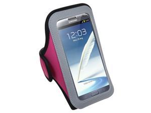 MYBAT Vertical Pouch Universal Hot Pink Sport Armband(262) (NO Package) compatible with Samsung© I717 (Galaxy Note), T879 (Galaxy Note), Galaxy Note II (T889/I605/N7100)