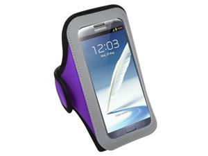 MYBAT Vertical Pouch Universal Purple Sport Armband (267) (NO Package) compatible with Samsung© I717 (Galaxy Note), T879 (Galaxy Note), Galaxy Note II (T889/I605/N7100)