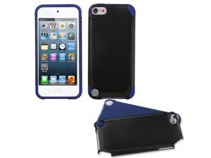 Apple iPod Touch 5th Gen/6th Gen Case, eForCity Fusion Dual Layer [Shock Absorbing] Protection Hybrid PC/Silicone Case Cover Compatible With Apple iPod Touch 5th Gen/6th Gen, Black/Dark blue