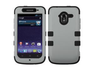 MYBAT Rubberized Gray/Black TUFF Hybrid Phone Protector Case for ZTE N9120 (Avid 4G)