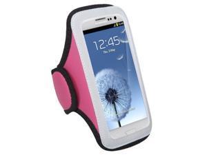 MYBAT Pink Vertical Pouch Universal Sport Armband Compatible With MOTOROLA MB886 ATRIX HD, XT912M Droid Razr Maxx, XT894 Droid 4, XT912 Droid Razr, Samsung© Galaxy S III, HTC EVO 4G LTE, One X