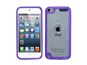 Apple iPod Touch 5th Gen/6th Gen Case, eForCity Gummy TPU Rubber Candy Skin Case Cover Compatible With Apple iPod Touch 5th Gen/6th Gen, Clear/Purple